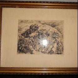 Szönyi I. rézkarc, A hegy