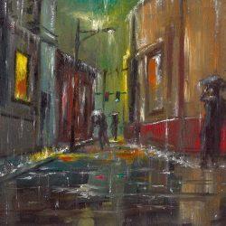 Esős városkép