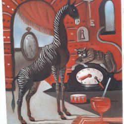 Színpadi jelenet az állatok mennyországában_festmeny
