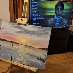 Sunset in Sirmione_festmény_eladó