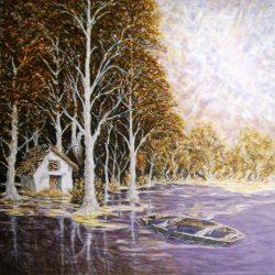 erdő szélén