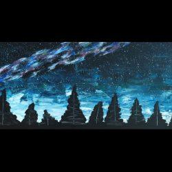 night sky painting