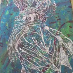 Akrill Szürrealista és fél-absztrakt festmény eladó