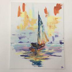Summer boat festmény eladó
